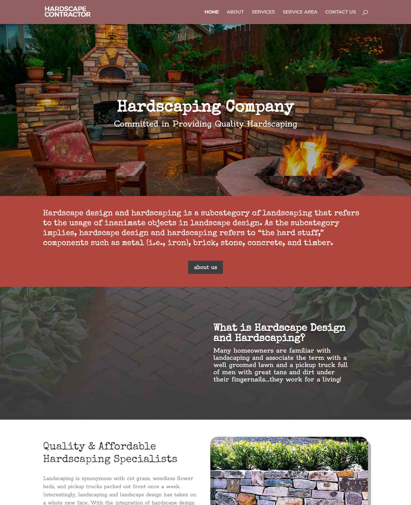 Hardscape Contractor Websites Excalibor Sample