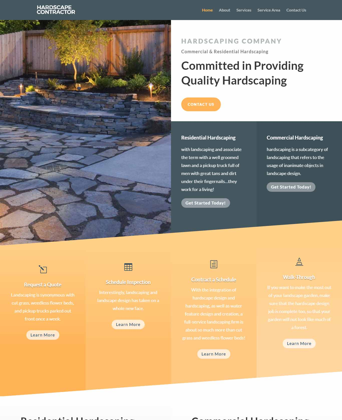 Committed in Providing Quality Hardscaping Website