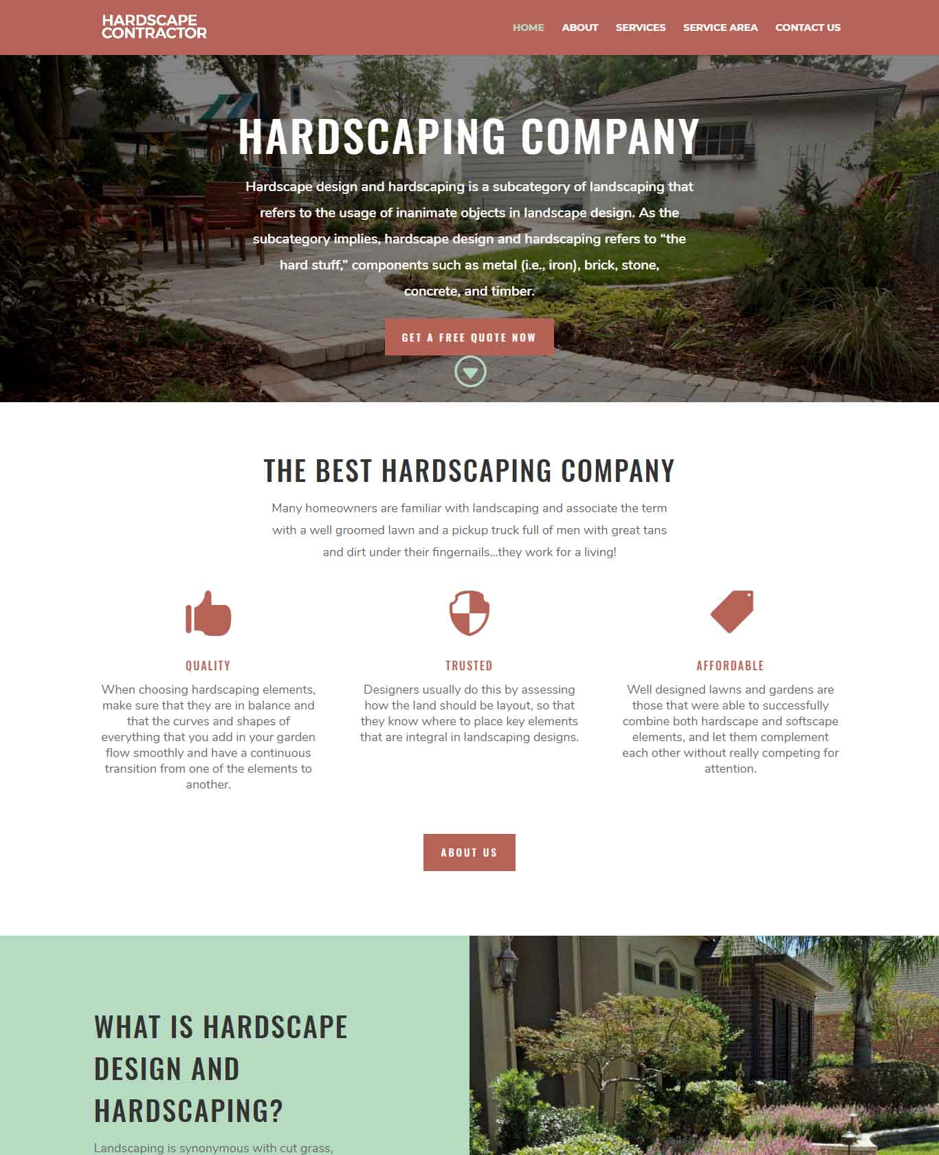 Hardscape Contractor Websites Professional Sample